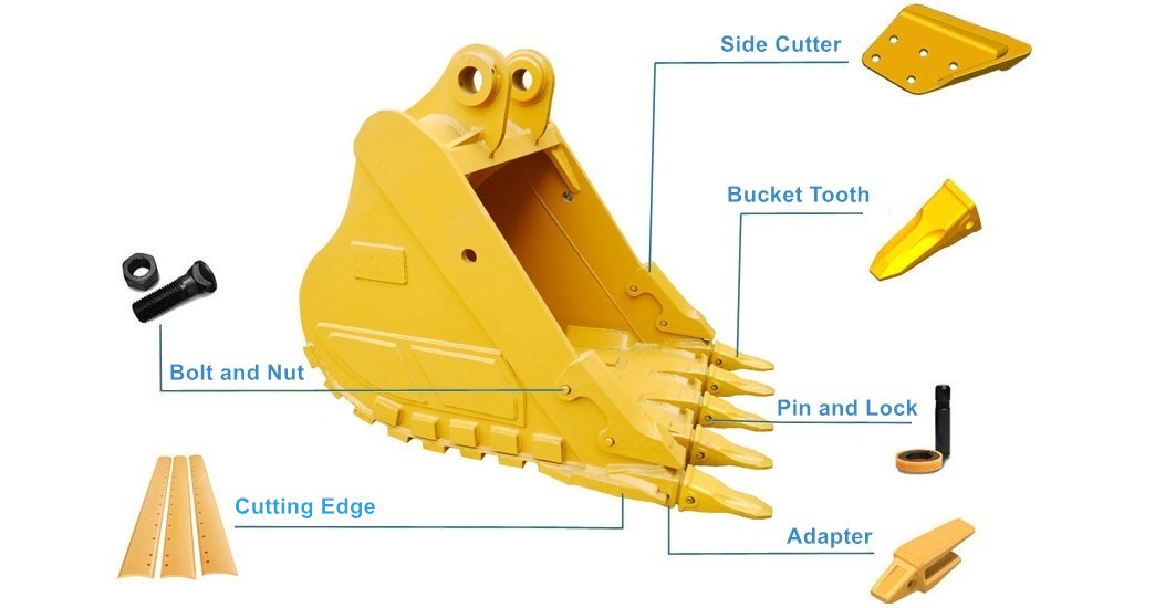 Caterpillar Bucket Structure
